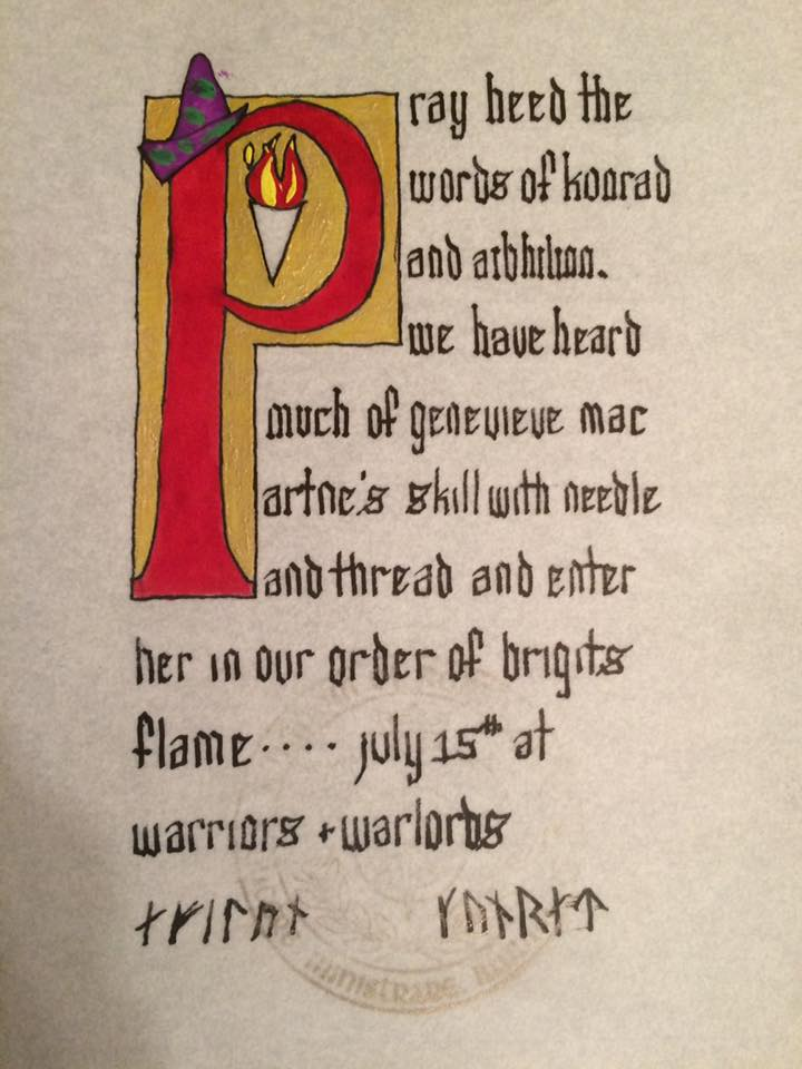 Brigits Flame, Order of