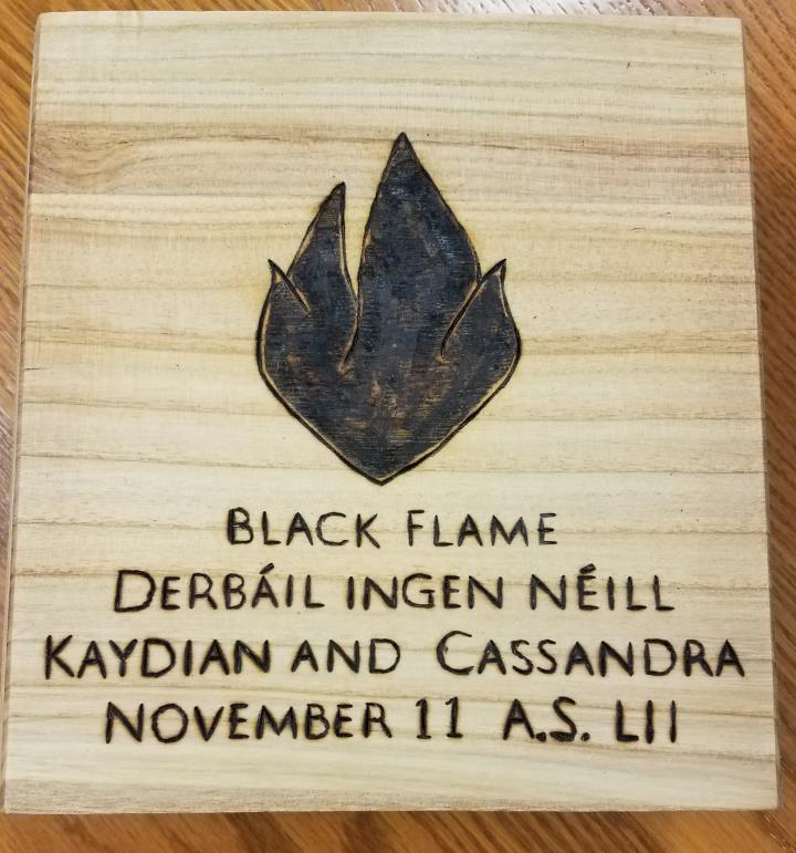 Black Flame, Award of the