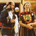 Moments after Valerius Paencalvus won Middle Kingdom Crown for Fern de la Foret (circa 1984)