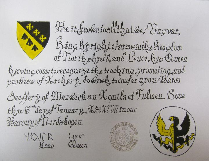 Aquila et Fulmen, Order of the