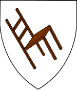 Device: Argent, a wooden chair bendwise proper